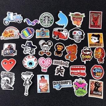 Sjove Klistermærker 100 Stk Megapakke Stickers Klistermærker Kø
