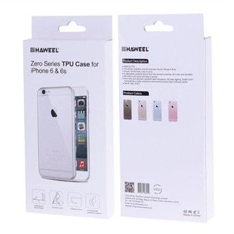 Supertyndt 0,3 mm Transparent Cover iPhone 6 & 6s