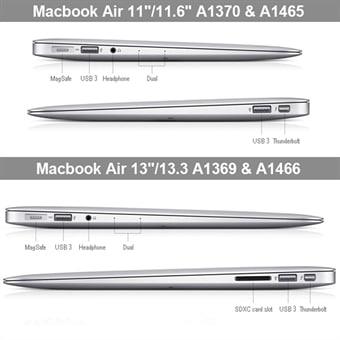 Frostet Etui MacBook Air 13.3