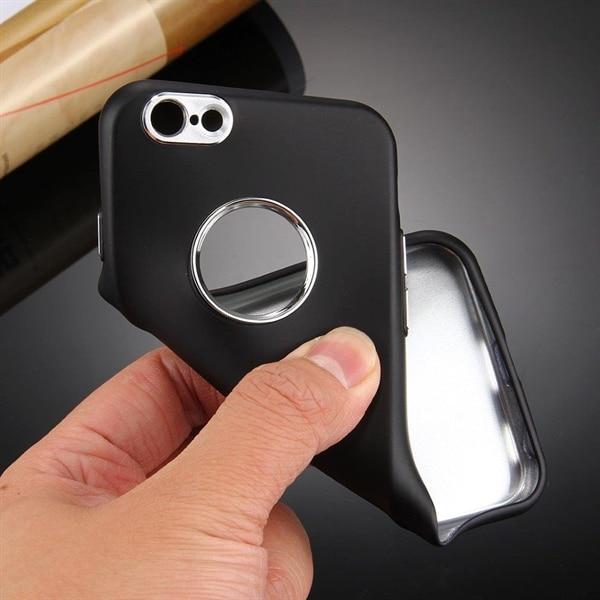 Gribevenligt Cover til iPhone 6 Plus / 6s Plus med Metalknapper - Sort